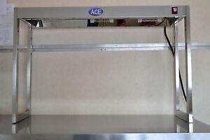NEW LS-1 S/S 3 LAMP TABLE TOP ADJUSTABLE TIER HEATED GANTRY LIGHT PASS THROUGH