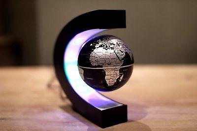 Floating Globe LED World Map  Magnetic Levitation Light Antigravity GIFT Novel