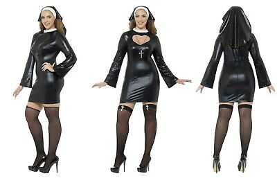 Womens Plus Size Curves Naughty Holy Sister The Nun Fancy Dress Halloween Fun 🎃 ()