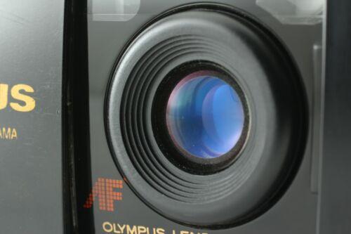*Near Mint* Olympus mju  Panorama Black  35mm  Film Camera from Japan