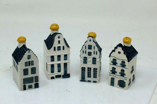 KLM BOLS #40, #50, #10, #3 Collectors Ceramic House ~ Set of 4, Delft