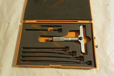 Mitutoyo Depth Micrometer 229 - 127.. 0 To 6.0 Range 4.0 Base  1