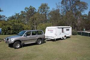 Windsor Rapid 4 berth caravan and GXL Land Cruiser for $57000 Helensvale Gold Coast North Preview