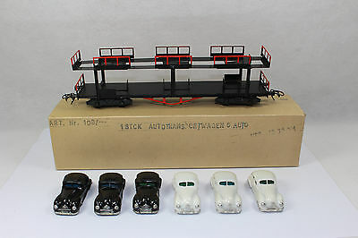 ax1198, TOP RAR Dahmer / Herr Autotransportwagen mit 6 St. EMW ex. DDR BOX 1:87