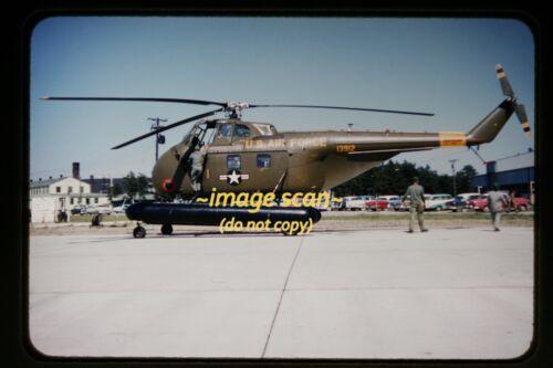 1958 USAF Sikorsky Chickasaw Helicopter with Pontoons, Original Slide b22a