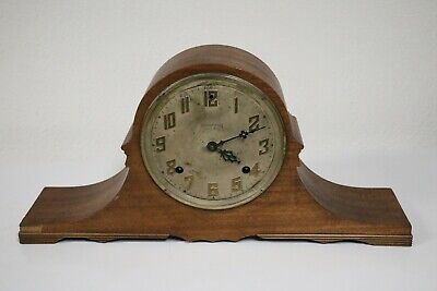 Vintage E Ingraham Company Red Mantle Clock Case With Brass face