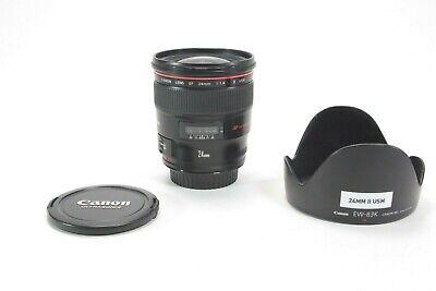 Canon EF 24mm f/1.4 II EF L USM Lens No Reserve! #2