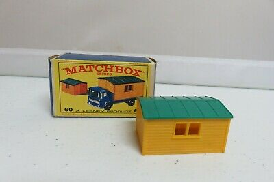 Vintage Lesney Matchbox #60 Truck with Site Office Car Original Box & Building