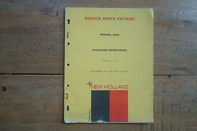 1972 New Holland Model 368 Manure Spreader Service Parts Catalog