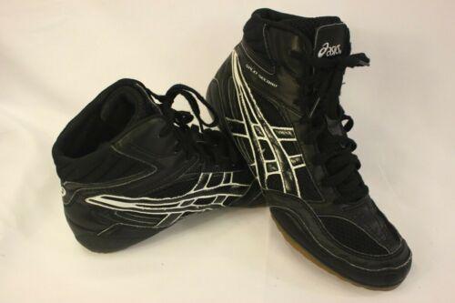 asics split second mens wrestling shoes black and white