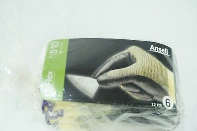 1 Pair Hyflex Ansell Size Xs Cut Resistant Gloves11-510 Size 6