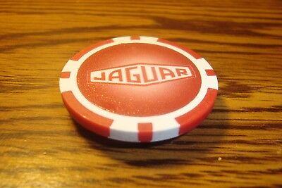 JAGUAR Logo JAGUAR-ENGLISH BRITISH LUXURY CAR Poker Chip Magnet Red-White