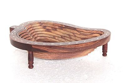 Dinning Table Wooden Mango Shape Tray New Handcrafted Home Decor U-59