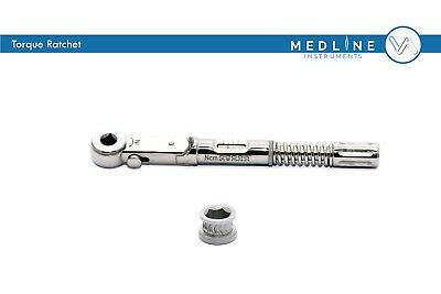 Dental Implant Torque Wrench Ratchet Universal 10-45 Ncm 6.35mm Ce Iso Free Ship