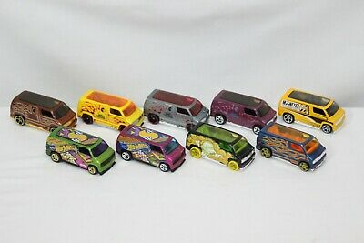 Hot Wheels Custom 1977 Dodge Van Lot of 9 w/Treasure Hunt & 1st Edition Loose