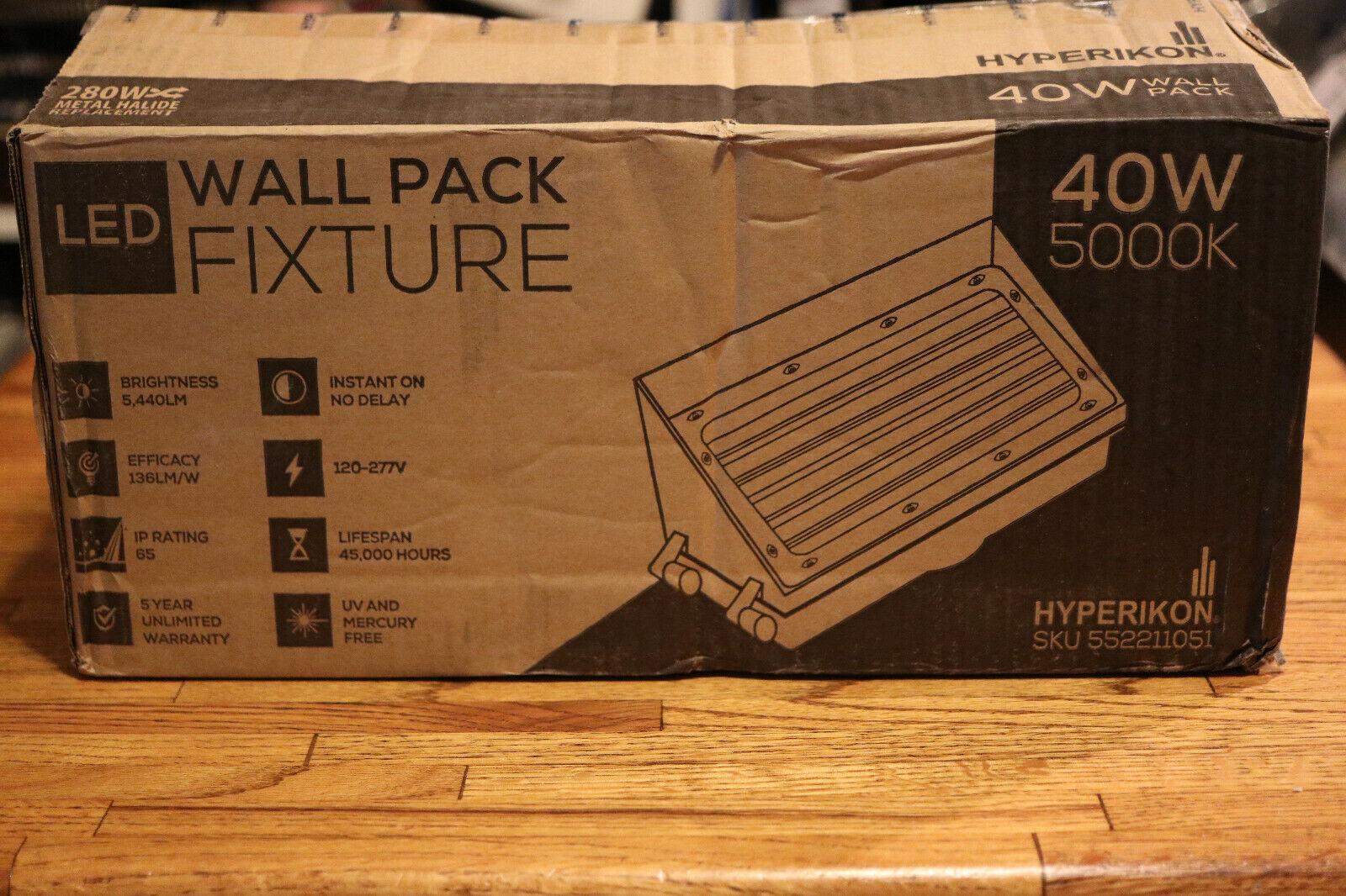 Hyperikon LED Wall Pack Fixture 40W 5000K 280w metal halide