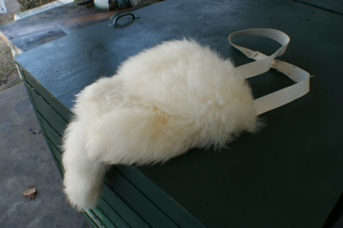Goat bag possibles rendezvous bag leather beautiful white fur pow wow style