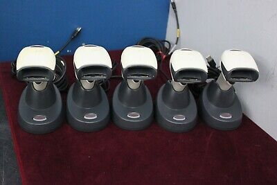 Lot Of 5 Honeywell Xenon 1902hhd-0 Barcode Scanner W Ccb01-010bt Stand Usb