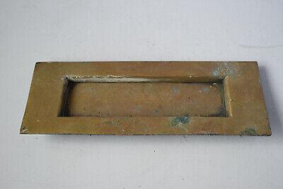VINTAGE 20cm RECLAIMED SOLID BRASS LETTER BOX 370g