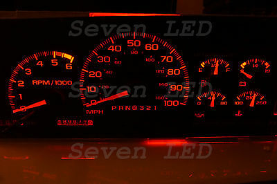 SIERRA  Silverado Tahoe Yukon Suburban GMC  1995-1999 CHEVY LED CLUSTER KIT RED