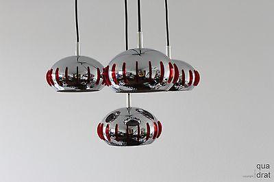 Ausgefallene Diskus Kaskadenlampe CHROM mit tollen Lichteffekten 70er Jahre