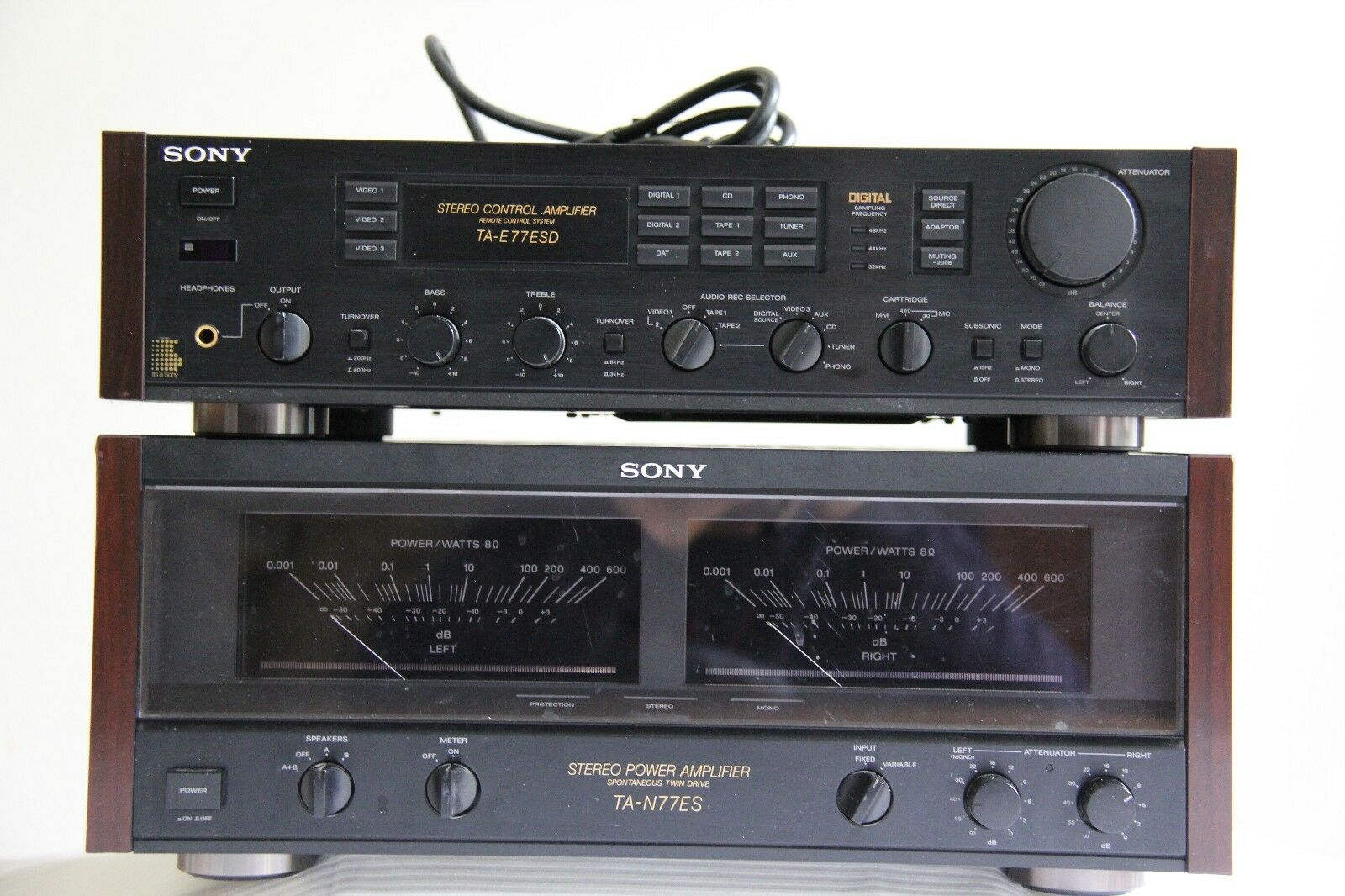 Sony Ta N77es Power Amplifier And E77esd Pre Wundr Shop 9 Pin Din Connector Wiring Diagram Klipsch Promedia Ultra 5 1 Thx 8