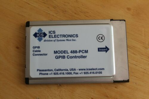 ICS Electronics GPIB Cable Connector 488-PCM GPIB Controller REV X0