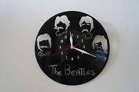 The Beatles Heads, Design Vinyl Record Wall Clock, Black Gloss Sticker Home Art - handmade - ebay.co.uk