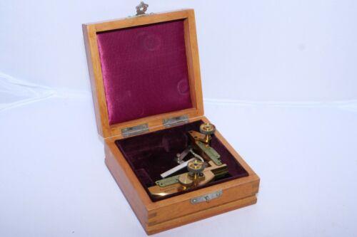 Adjustable BRASS Leitz Microscope Stage. Precision Mechanical Instrument.