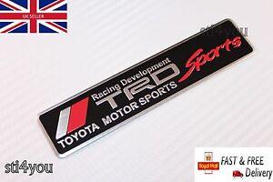 TRD Motorsport T Sport Badge Emblem Aluminum Sticker for Toyota MR2 Celica Yaris