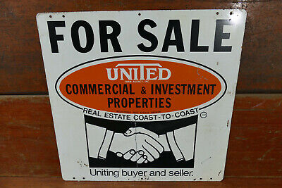 Vintage United Farm Agency Real Estate For Sale Double Sided Advertising Sign