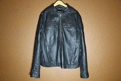Ed Hardy Leather Jacket 2XL Black Rockstar Limited Edition Biker Skull Jacket Ed Hardy Vest