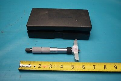 Used Mutitoyo Depth Micrometer .001 With Case