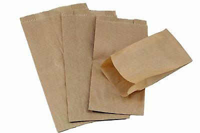 Lots Of 100 Brown Kraft Merchandise Bags Gift Bags Store Bags Paper Bags