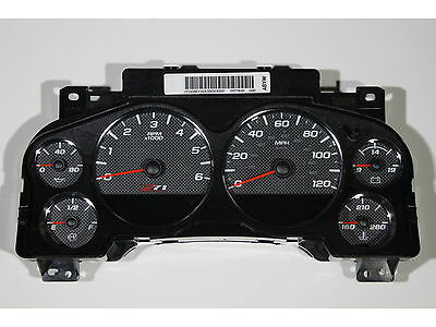 7BB) NEW 07-13 Z71 CARBON FIBER STYLE SILVERADO COMPLETE CLUSTER 6 SPEED ONLY