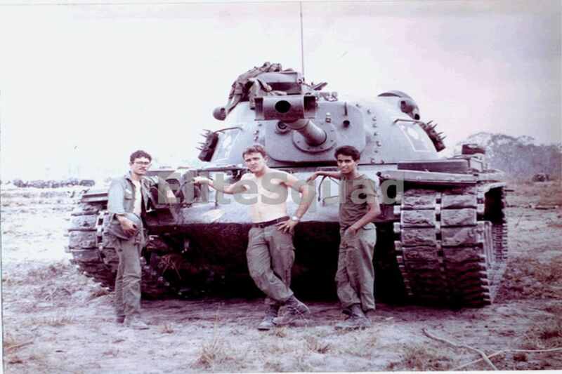 Vietnam War Photo An Patton Tank M48A3 of 2-34 Arm on FSB 1967 #525