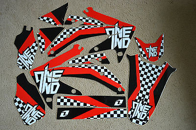 ONE INDUSTRIES CHECKERS TEAM GRAPHICS  HONDA CRF450R CRF450 2005 2006 2007 2008