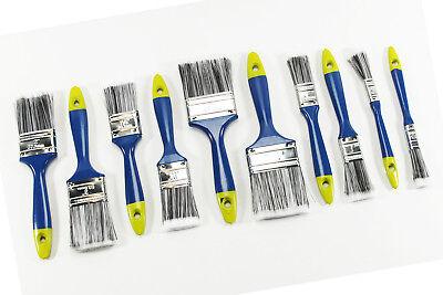 Pinsel Synthetik-Borsten Set 10tlg KINZO Flachpinsel Malerpinsel NEU