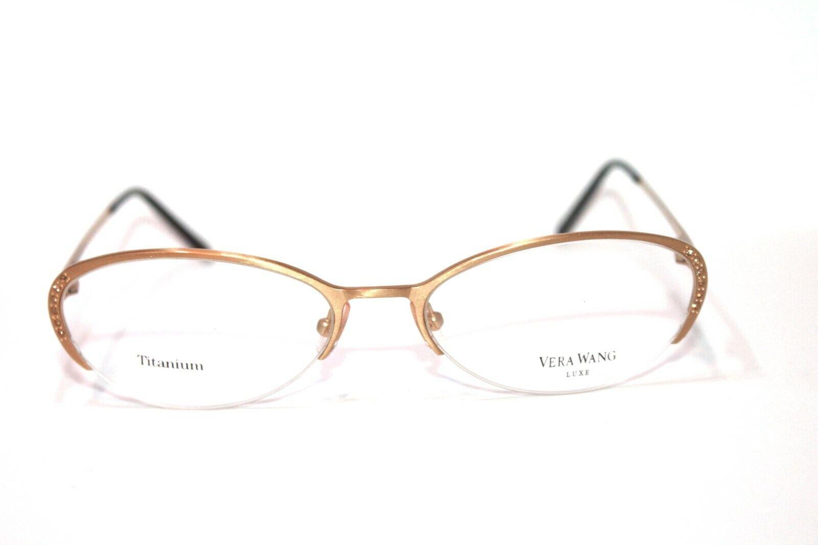 8 Vera Wang Eyeglass frames Semi-rimless Titanium Black, Gol