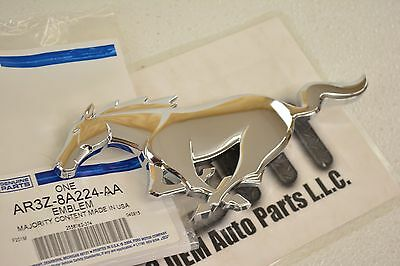2010-2012 Ford Mustang Pony Chrome Front Grille Emblem new OEM XR3Z-8A224-AB