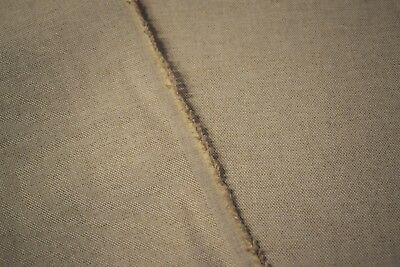 Oatmeal Beige Canvas Flax Linen Cotton Blend Fabric Natural Fiber 55