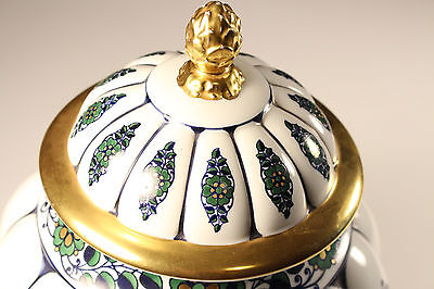 Schönster Jugendstil Art Nouveau Porzellan Vase ° Deckelvase ~1900 KRAUTHEIM