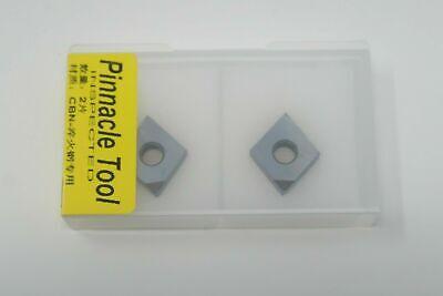 2 New Pinnacle Tool Cnmg 432 120408 Cbn Polycrystalline Diamond Carbide Inserts