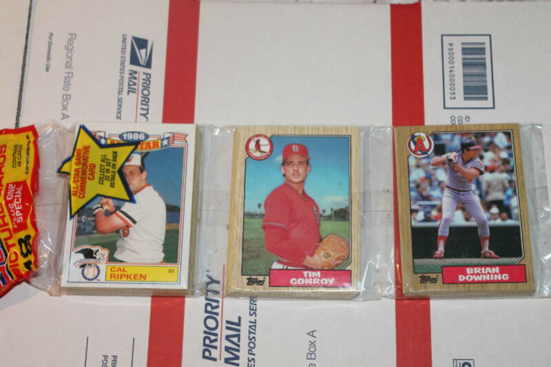 1987 Topps Rack  Baseball Packs!! Vintage Unopened Lot.