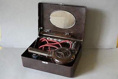 antiker englischer Fön Haartrockner ORMOND Bakelit im Koffer TOP Rarität