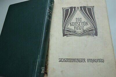 2 x Kunst - Die Kunst für Alle 1910 + Geschichte der Deutschen Kunst 1931