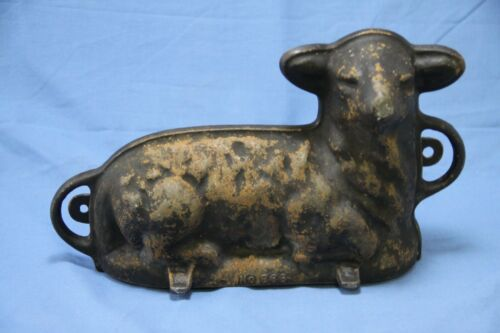 Vintage Griswold Cast Iron Lamb Cake Mold No. 866 - G2