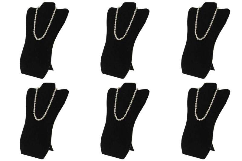 "6 Black Necklace Pendant Easel Back Portable Jewelry Display 8 5/8""W x 14 1/8""H"