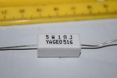 Yageo 5w 1-ohm J 5w1j Axial Ceramic Cement Power Resistor New Quantity-10
