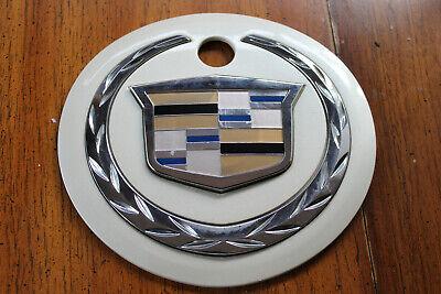 2003 - 2006 Cadillac Escalade Rear Liftgate Emblem Badge Crest Diamond White OEM